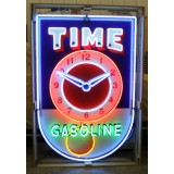 """New Time Gasoline Neon Sign 40""""W x 72""""H"""