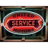 "New United Motors Service Neon Sign - 48"" x 28"""