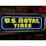"Old U.S. Royal Tires Sign with Neon 60""W x 18""H"