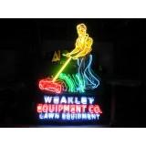 "New Weakley Equipment Animated Neon Sign 52"" Wide x 72"" High - Killer!"