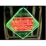"""New White Rose Neon Sign - 48"""" x 48"""""""