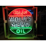 "New ""Ask For Wolf's Head Oil"" 36"" Diameter Neon Sign"
