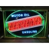 New Zephyr Gas & Motor Oil Neon Sign - 7 Ft W x 5 Ft H